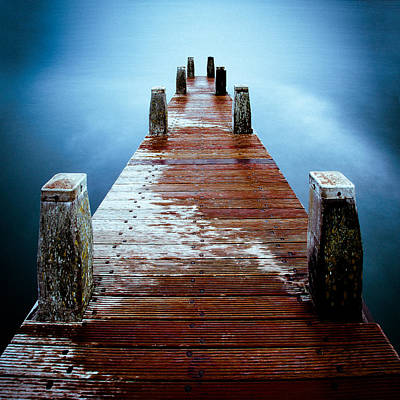 Water On The Jetty Print by Dave Bowman