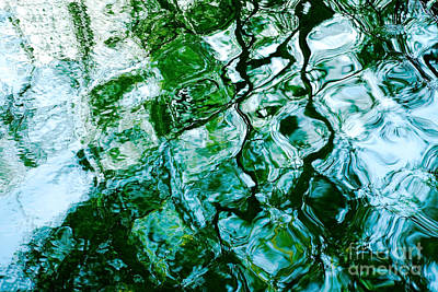 Water Ripples And Reflections Abstract Print by Natalie Kinnear