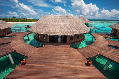 Water Spa  Center. Maldives Print by Jenny Rainbow