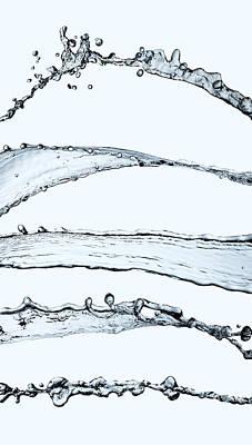 Water Splash Print by Andy Astbury