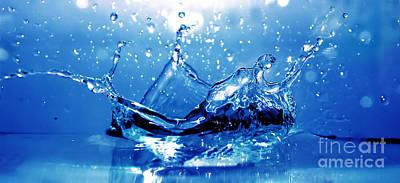 Water Splash Print by Michal Bednarek