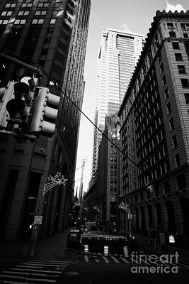 Water Street Entrance To Wall Street Junction Financial District New York City Usa Print by Joe Fox