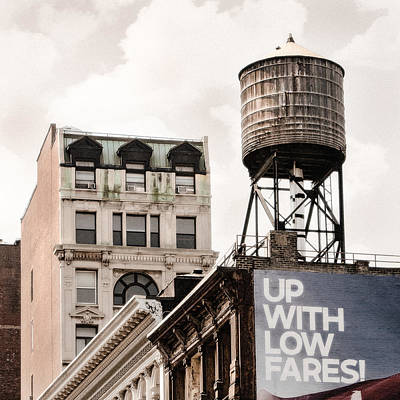 Water Towers 14 - New York City Print by Gary Heller