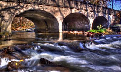 Tim Buisman Photograph - Water Under Bridge by Tim Buisman