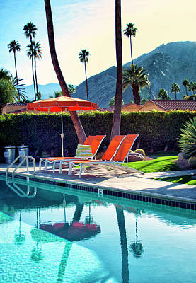 Water Waiting Palm Springs Print by William Dey
