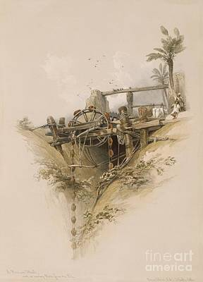Water Wheel In Nubia, 1830s Print by Asian And Middle Eastern Division