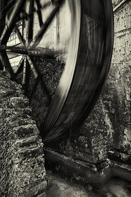 Augustine Photograph - Water Wheel by Mike Lang