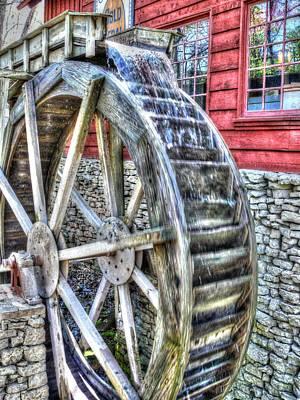 Water Wheel On Mill Print by John Straton