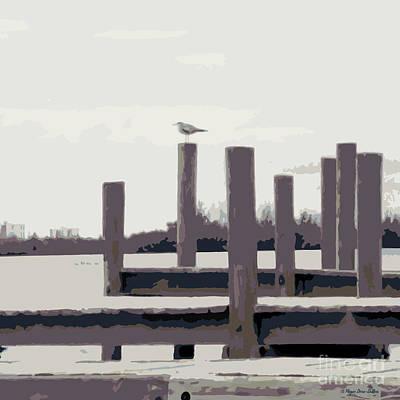 Loon Digital Art - Waterbirds2 by Megan Dirsa-DuBois