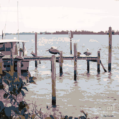 Loon Digital Art - Waterbirds4 by Megan Dirsa-DuBois