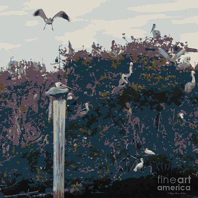 Loon Digital Art - Waterbirds5 by Megan Dirsa-DuBois