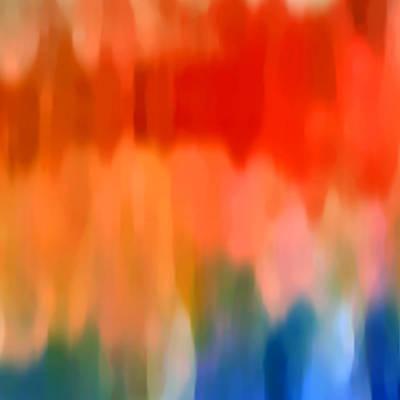 Abstract Shapes Digital Art - Watercolor 1 by Amy Vangsgard