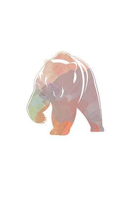 Watercolor Bear Print by Sara Habecker