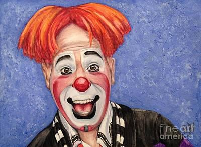 Klown Painting - Watercolor Clown #7 Ryan Combs by Patty Vicknair