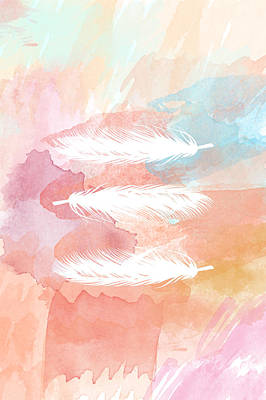Watercolor Feathers Original by Sara Habecker