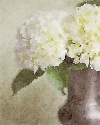 Watercolor Hydrangeas Print by Lisa Russo