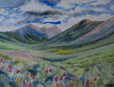 Watercolor - Independence Pass Landscape Original by Cascade Colors
