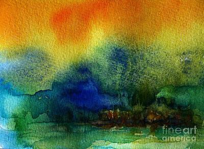 Wet Into Wet Watercolor Painting - Watercolor Island by Julianne Felton
