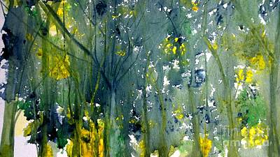 Wet Into Wet Watercolor Painting - Watercolor Landscape Prints And Cards by Eunice Miller