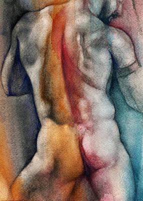 Watercolor Study 10 Print by Chris  Lopez