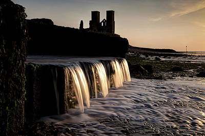 Reculver Photograph - Waterfall And The Towers by Nigel Jones