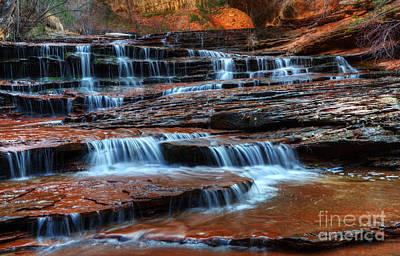 Waterfall Cascade North Creek Print by Bob Christopher
