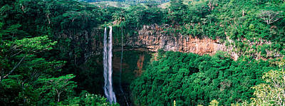 Waterfall, Chamarel Waterfall Print by Panoramic Images