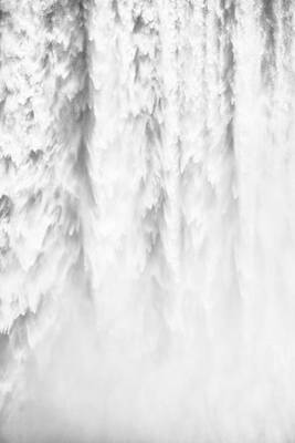 Tons Of Photograph - Waterfall Detail Skogafoss Iceland by Matthias Hauser