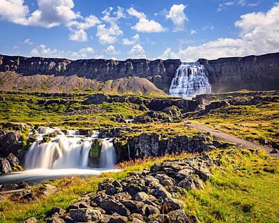 Landscape Photograph - Waterfall Dynjandifoss by Alexey Stiop