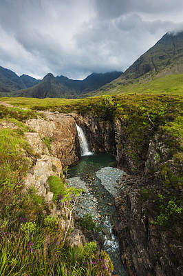 Glen Brittle Photograph - Waterfall In Coire Na Creiche The Fairy by Ian Cumming