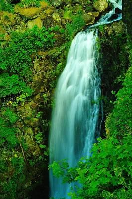 Waterfall In Hood River Oregon Print by Jeff Swan