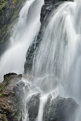 Waterfall In Spring Print by Guido Montanes Castillo