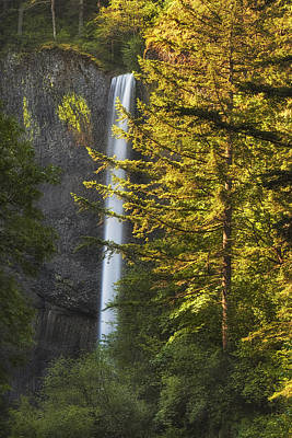 Columbia River Photograph - Waterfall In The Light by Andrew Soundarajan