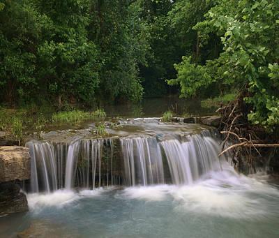 Ozarks Photograph - Waterfall Lee Creek Ozarks Arkansas by Tim Fitzharris