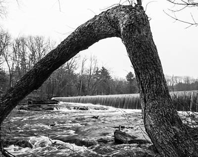 Waterfall On The Assabet Print by Mark Raymond