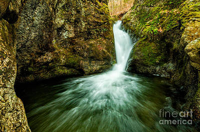 Flowing Wells Photograph - Waterfall - The Falls Of Indian Well by JG Coleman