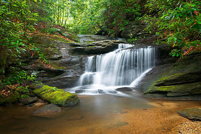 Western North Carolina Photograph - Waterfalls - Wnc Waterfall Photography Hidden Falls by Dave Allen