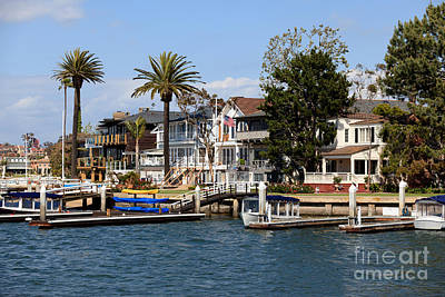 Waterfront Luxury Homes In Orange County California Print by Paul Velgos