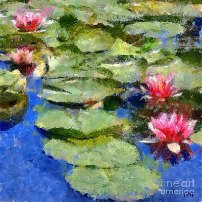 Monet Painting - Waterlilies From Giverny by Dragica  Micki Fortuna