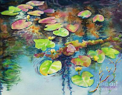 Waterlilies In Shadow Original by Kathy Braud
