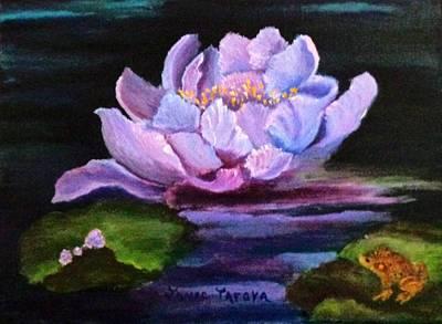 Waterlillie Print by Janis  Tafoya