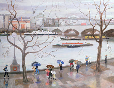 Umbrella Painting - Waterloo Promenade by Terry Scales