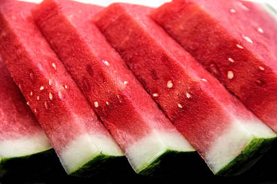 Drippy Photograph - Watermelon Slices by Pat Cook