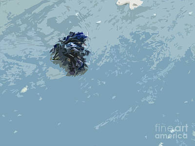 Abstract Forms Digital Art - Waters Edge by Carol Lynch