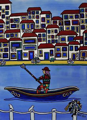 Watery Venice Print by Barbara St Jean