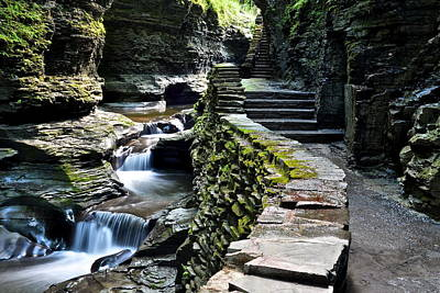 Finger Lakes Photograph - Watkins Glen Exiting The Trail by Frozen in Time Fine Art Photography