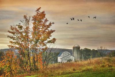 Watkins Glen Farm Print by Lori Deiter