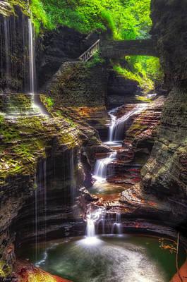 Watkins Glen Rainbow Falls Print by Mark Papke