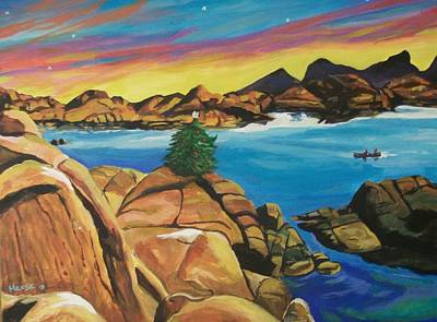 Watson Lake Painting - Watson Lake Christmas by Kathleen  Heese