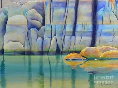 Watson Lake Painting - Watson Rocks by Robert Hooper